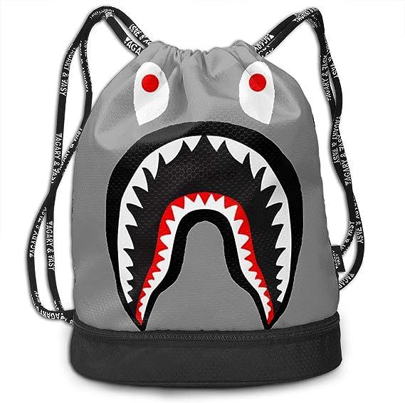 Bape Shark - Bolsa de Viaje con cordón, diseño de tiburón ...