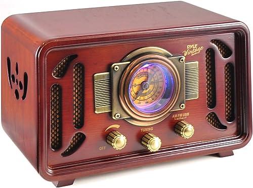 Pyle Retro Wireless Bluetooth Radio Speaker