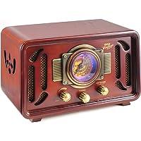 Pyle PUNP34BT Vintage Retro Classic Style Bluetooth Radio Sound System, USB/SD Readers, AM/FM Radio