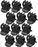 Sourcingmap Plastic Ladies 6 Claws Hairpin Hair Clip/ Clamp, Black - 12 Piece