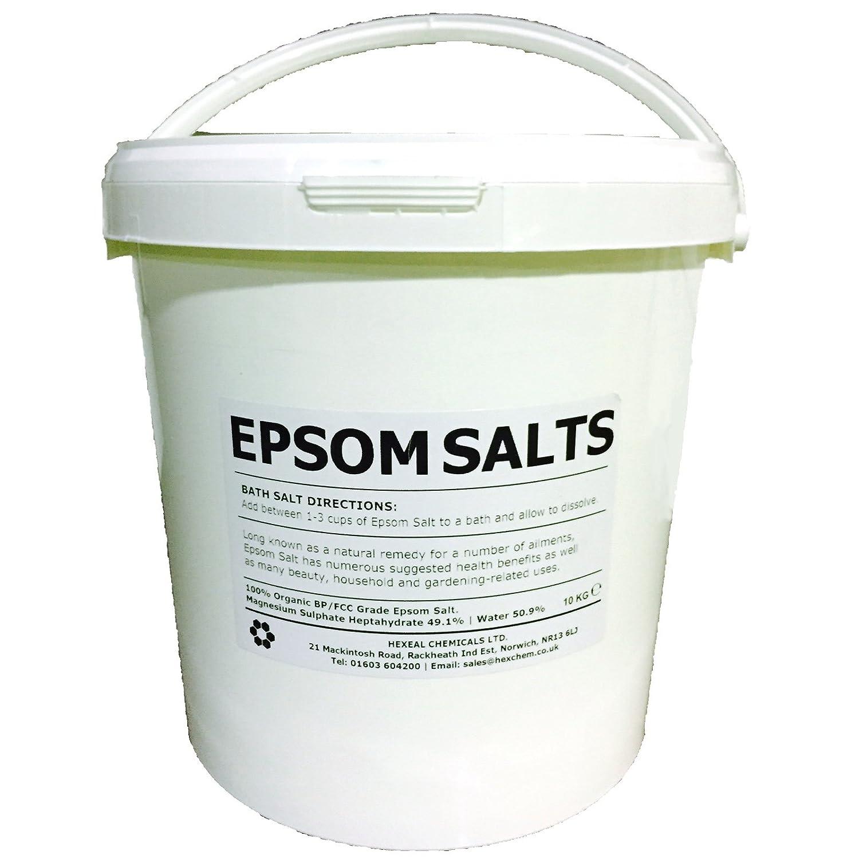 EPSOM SALT | 10KG BUCKET | 100% Natural | FCC Food Grade | Magnesium Sulphate Kali-GmbH