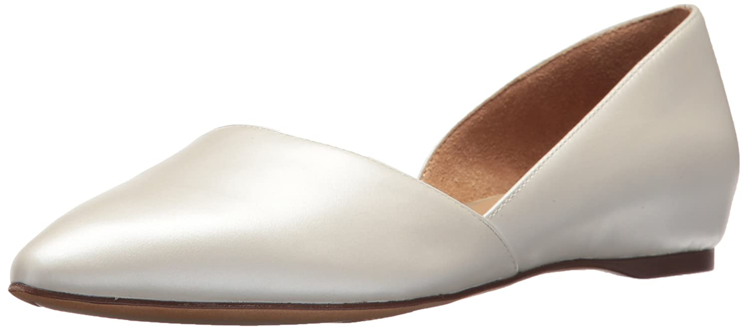 Naturalizer Women's Samantha Pointed Toe Flat B0756Y2HG6 7.5 W US|White Pearl