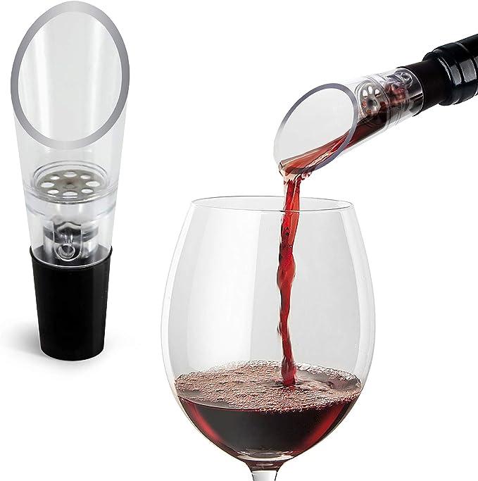Vertedor de Vino Oxigenador (pack de 2) – Pitorro Aireador Decantador Premium – Caja de Regalo Incluida: Amazon.es: Hogar