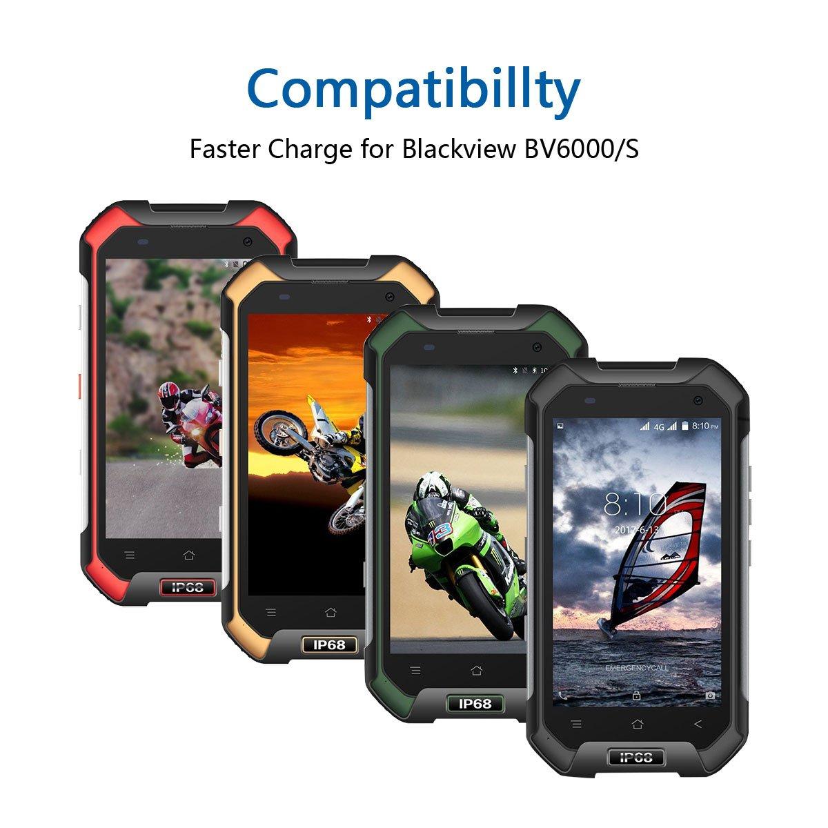 1m Micro USB Cable de Carga para Blackview BV6000 / BV6000S Móvil Resistente - Trenzado de Nylon Sincro Cable 2.4A Alta Velocidad Carga Rápida