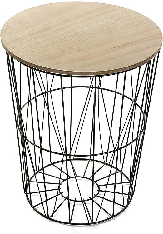amazon mesa madera y metal