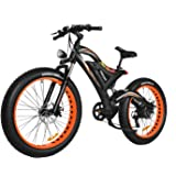 Addmotor MOTAN Electric Mountain Snow Beach Bikes Fat Tire 750W 48V 11.6AH Battery Electric Bicycle Full Suspension 2018 M-850 P7 E-bike+Fenders As Gift