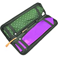 ATPWONZ Tie Case Travel Necktie Case with Mesh Storage Interlayer Bag,Portable and Best Storaged (Nylon,Black)