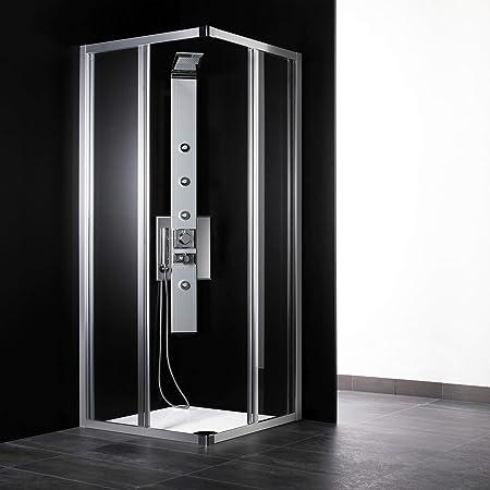 Cabina de ducha angular de 70 x 70 cm, cristal transparente ...