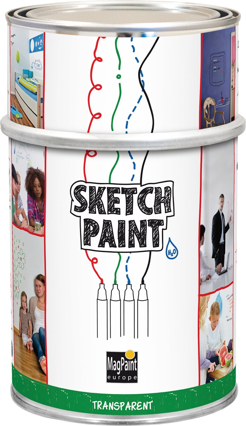 Magpaint Sketch Paint Whiteboard Paints Transparent 1 Litre