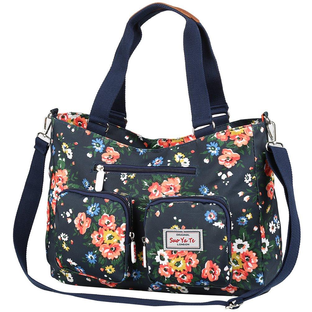 Vbiger Nylon Handbag Casual Messenger Bag Large-capacity Shoulder Bag Travel Tote Bag for Women
