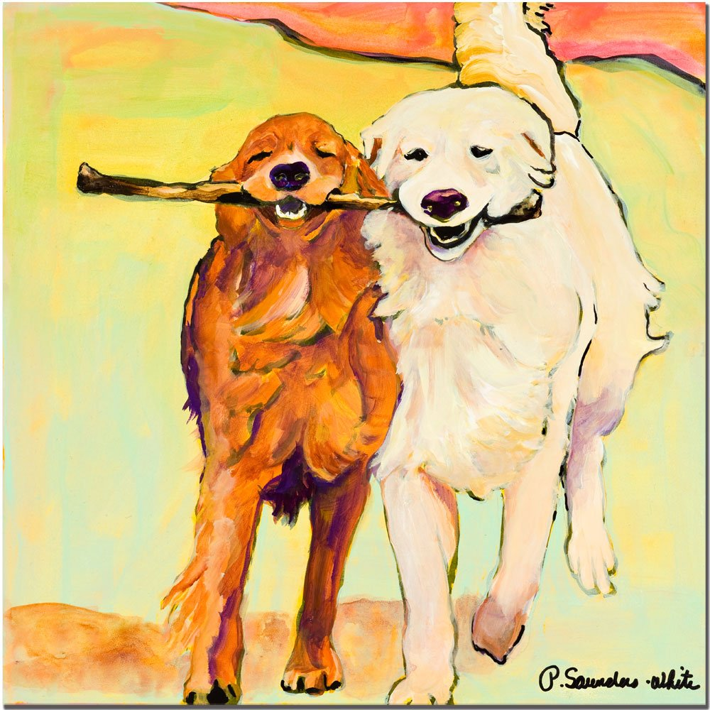 Amazon.com: Trademark Fine Art Stick With Me by Pat Saunders-White ...