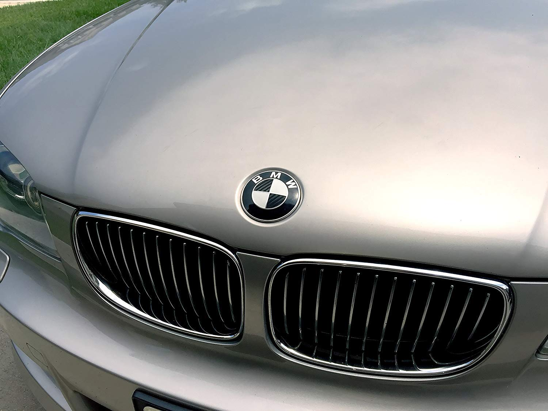 82mm Black Carbon Fiber BMW Emblem Logo Replacement 82mm for All Models BMW E30 E36 E46 E34 E39 E60 E65 E38 X3 X5 X6 3 4 5 6 7 8 BMW Emblems Hood and Trunk