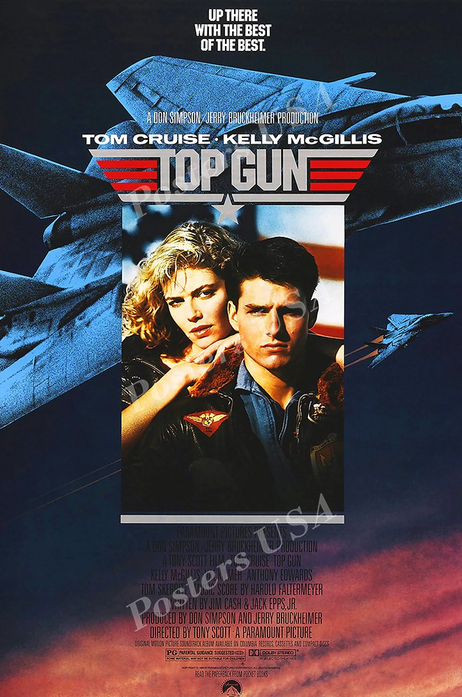 Posters USA - Tom Cruise Top Gun Movie Poster GLOSSY FINISH - FIL178 (24'' x 36'' (61cm x 91.5cm)) by Posters USA