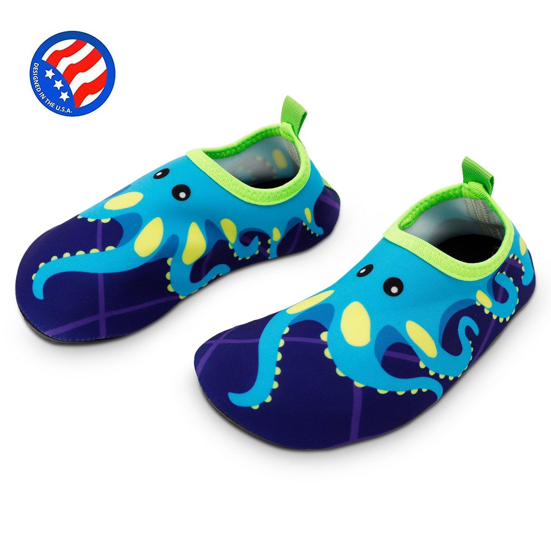 Bigib Toddler Kids Swim Water Shoes Quick Dry Non Slip Water Skin Barefoot Sports Shoes Aqua Socks for Boys Girls Toddler