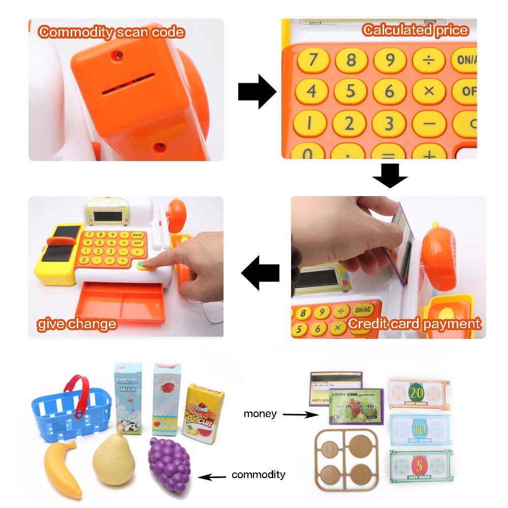 Wishtime supermercado Kitset caja registradora de juguete para niños comprar hasta el juego de rol: Amazon.es: Juguetes y juegos