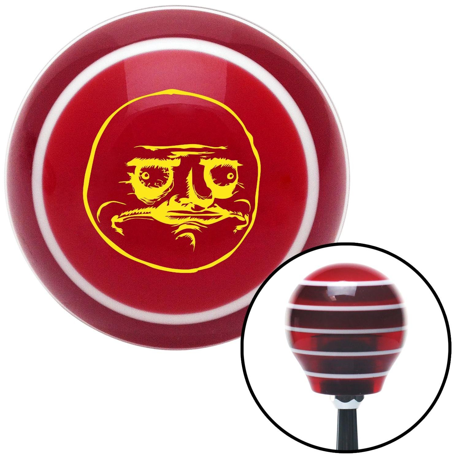 Yellow Me Gusta American Shifter 114700 Red Stripe Shift Knob with M16 x 1.5 Insert