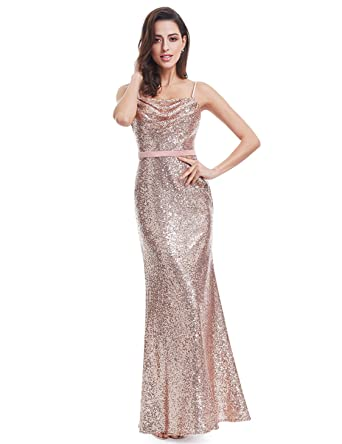 Amazon Ever Pretty Sparkle Elegant Sequins Long Prom Gown