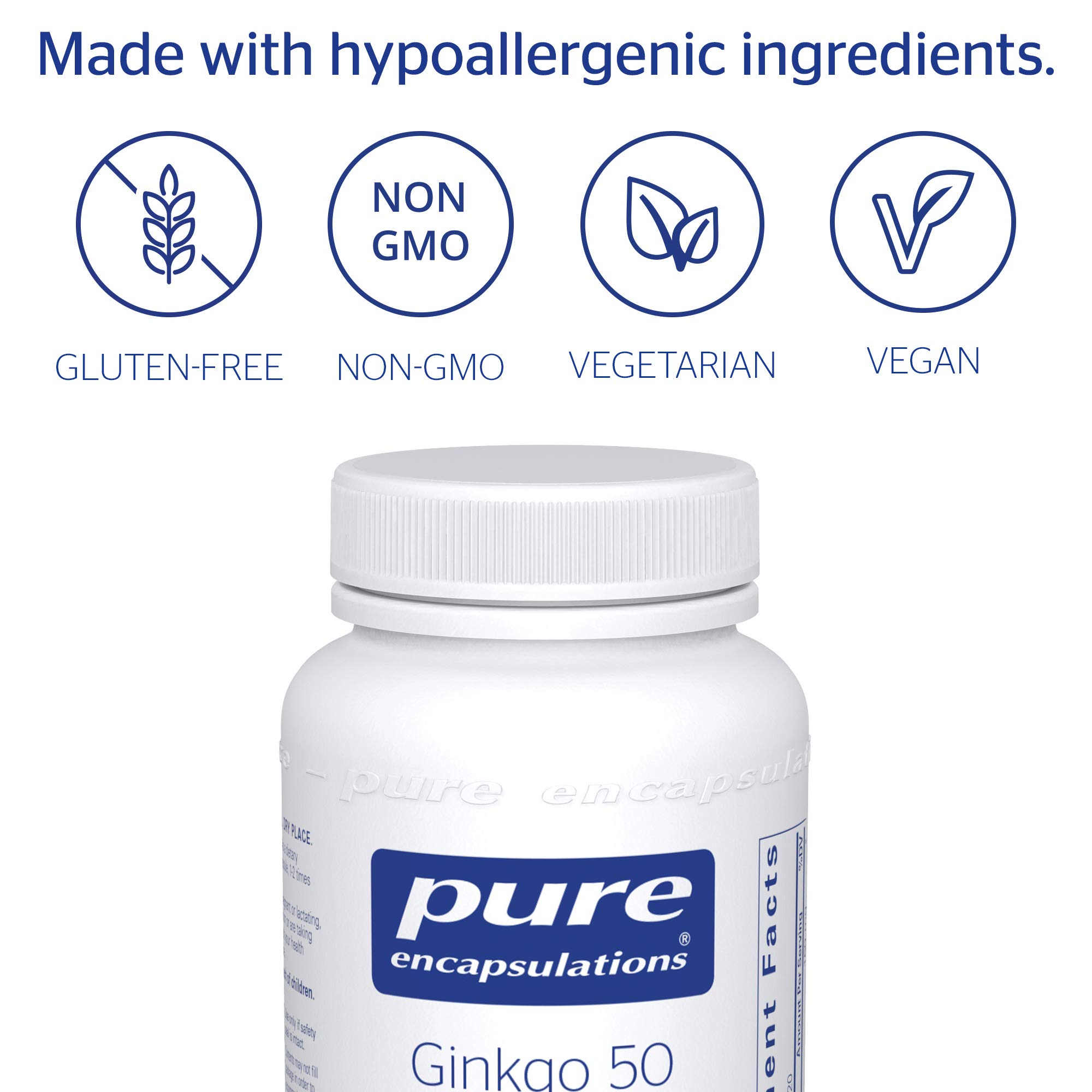 Pure Encapsulations - Ginkgo 50 160 mg - Hypoallergenic Ginkgo Biloba Extract - 120 Capsules by Pure Encapsulations (Image #4)