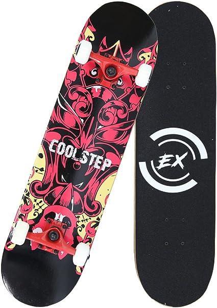 31x 8 Canadian Maple Cruiser Pro Skate Board,Longboard Skateboards Easy/_Way Complete Skateboards Standard Skateboards 95A PU Wheels ABEC-7 Bearings for Beginners Starters Kids Boys Girls Youth