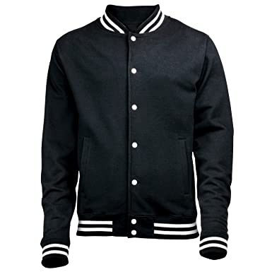 PREMIUM PLAIN COLLEGE JACKET (BLACK) NEW PREMIUM BLANK TOP Unisex ...
