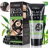 Blackhead Mask Peel Off, Peel Off Mask, rimuove punti, purificante maschera nera, carbone attivo profonda dei pori maschera, aspirazione Face nose Clear acne Blackhead Mask 60g