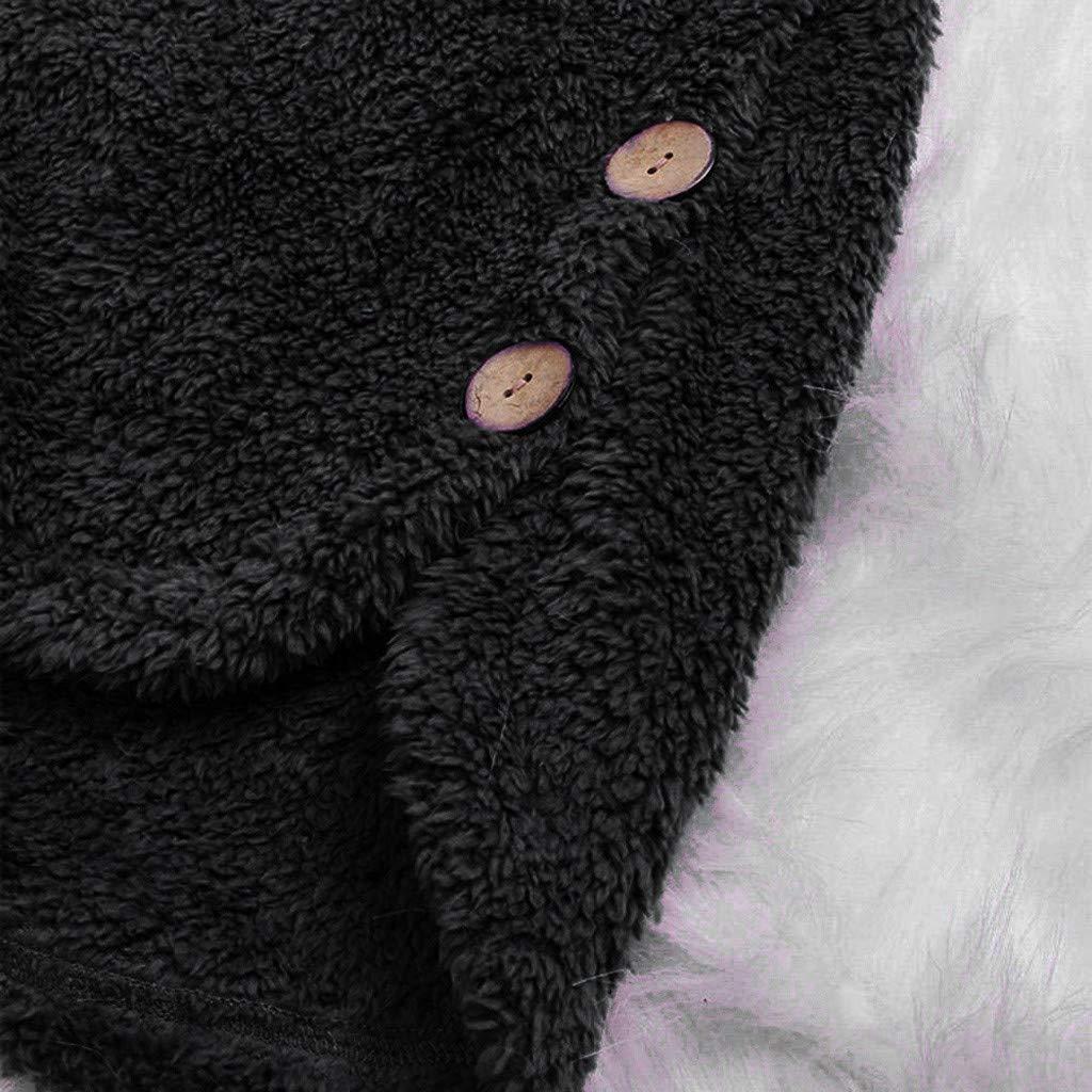 Mambain Parka Donna Invernale Taglie Forti con Cappuccio Cappotti Donna Peluche Eleganti Termica Tinta Unita Giubbotto Donna Manica Lungo Antivento Giacche Giacca