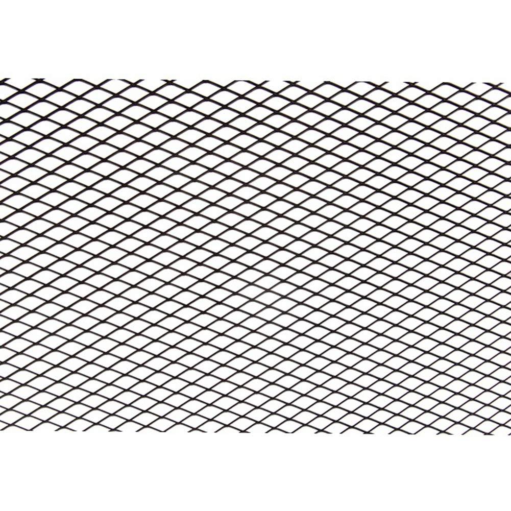 Taille Unique Silver Housse en Maille Filet en Alliage daluminium et Grille da/ération QLING Grille de carrosserie de Voiture Universelle pour Pare-Chocs Avant