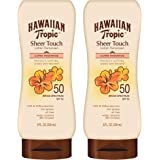 Hawaiian Tropic SPF 50 Broad Spectrum Sunscreen, Sheer Touch Moisturizing Protection Sunscreen Lotion, 8 Ounce, Pack of…