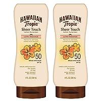 Hawaiian Tropic SPF 50 Broad Spectrum Sunscreen, Sheer Touch Moisturizing Protection...