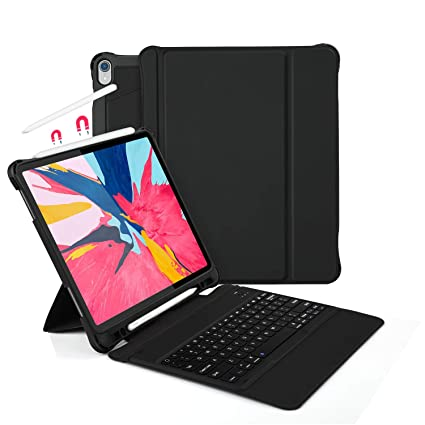 huge discount fd67c 8009c Vivefox Keyboard Case for iPad Pro 12.9 2018 - Detachable Wireless Keyboard  + Fully Protection Shockproof Back Case, with Pencil Holder, Auto ...