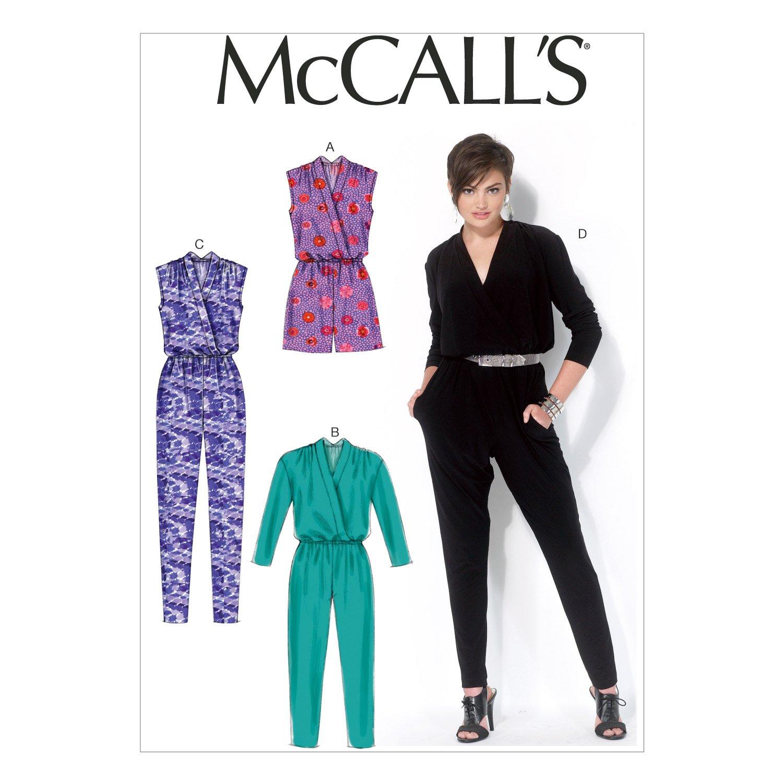 McCall's Patterns MC7099 A5 - Cartamodello per tute intere da donna, taglie piccole (6-14) The McCall Pattern Company M7099A50