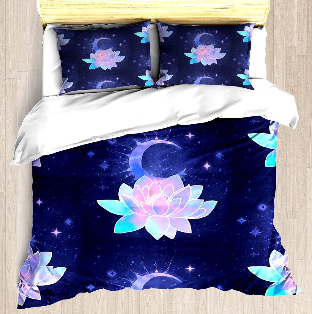 Amazoncom Ntcbed Moon Lotus Flower Duvet Cover Set Soft
