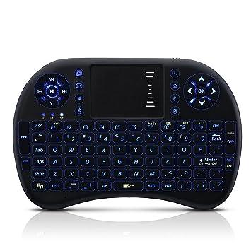 Seneo Mini Teclado Inalámbrico con el Touchpad del ratón Bluetooth 2.4GHz Teclado portátil Compatible con Windows, Linux, Android, Xbox360/PS3, ...