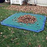 Sunnydaze 7-Foot Weather-Resistant Polyethylene Yard Tarp, Blue/Green