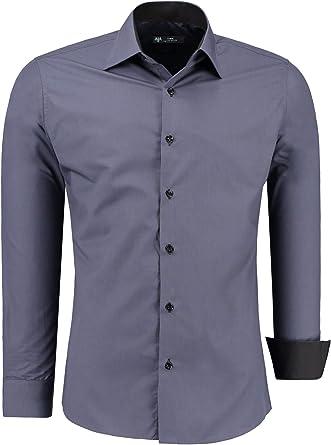 TMK Camisa para Hombre Manga Larga Slim FIT - Camisas de Vestir de Manga Larga para Negocios, Informales, Bodas, Fiestas
