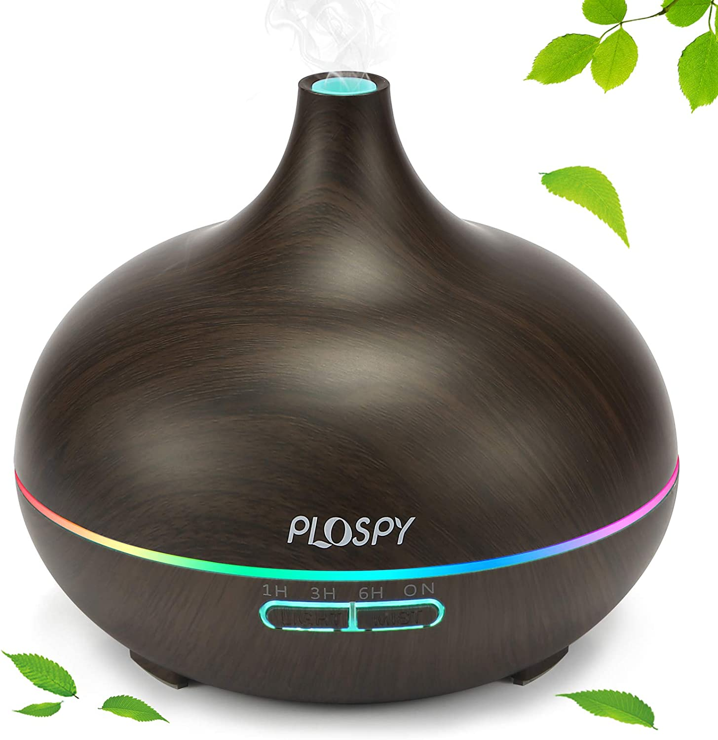 Diffusers for Essential Oils, 550ml Oil Diffuser Cool Mist Humidifier, Essential Oil Diffuser with 4 Timer & 7 Lights, Aromatherapy Diffuser for Office Home