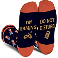 Do Not Disturb Gaming Socks-Funny Socks Novelty Socks for Men Women Teen Boys - Dress Cotton Socks Game Lovers Gift