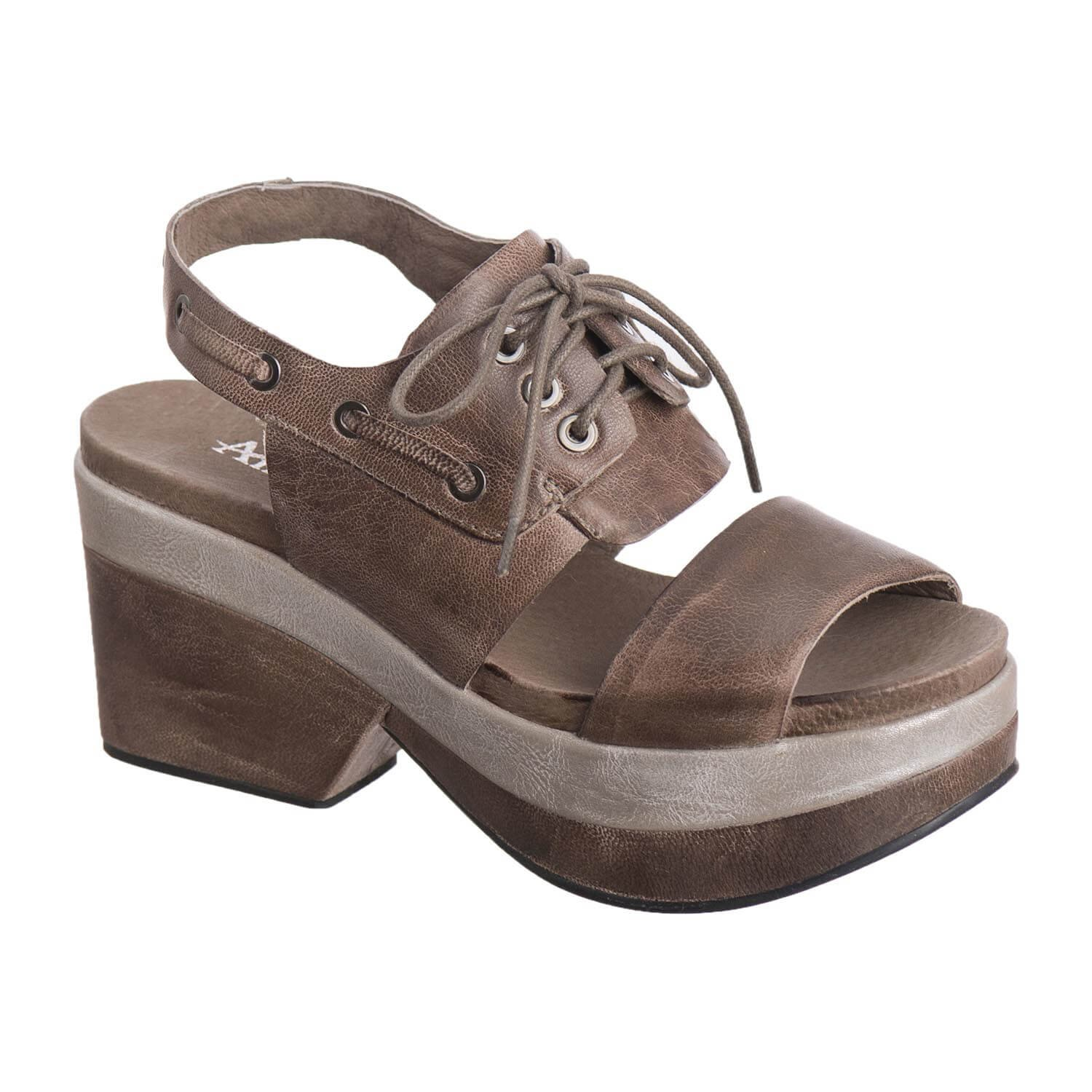 Antelope Women's 707 Grey Leather Lace up Band 37