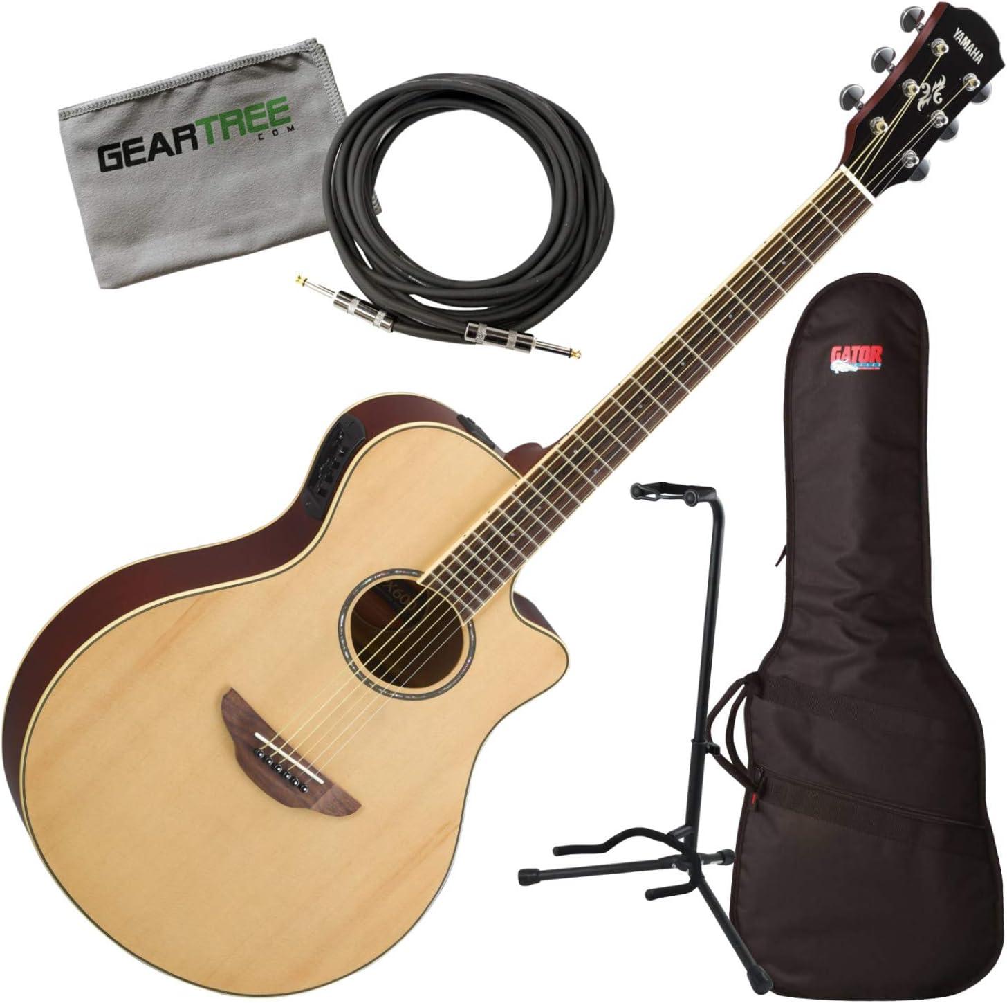 Yamaha APX600 NA - Guitarra acústica con funda, tela, cable ...