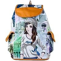 Leather Retail Girls' College Backpack Handbag -Digital Printed