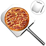 "Stainless Steel Pizza Peel(12"" x 14""),Metal Pizza Paddle with 10"" Stainless Steel Handle,Durable, Removable and Easy To Store"