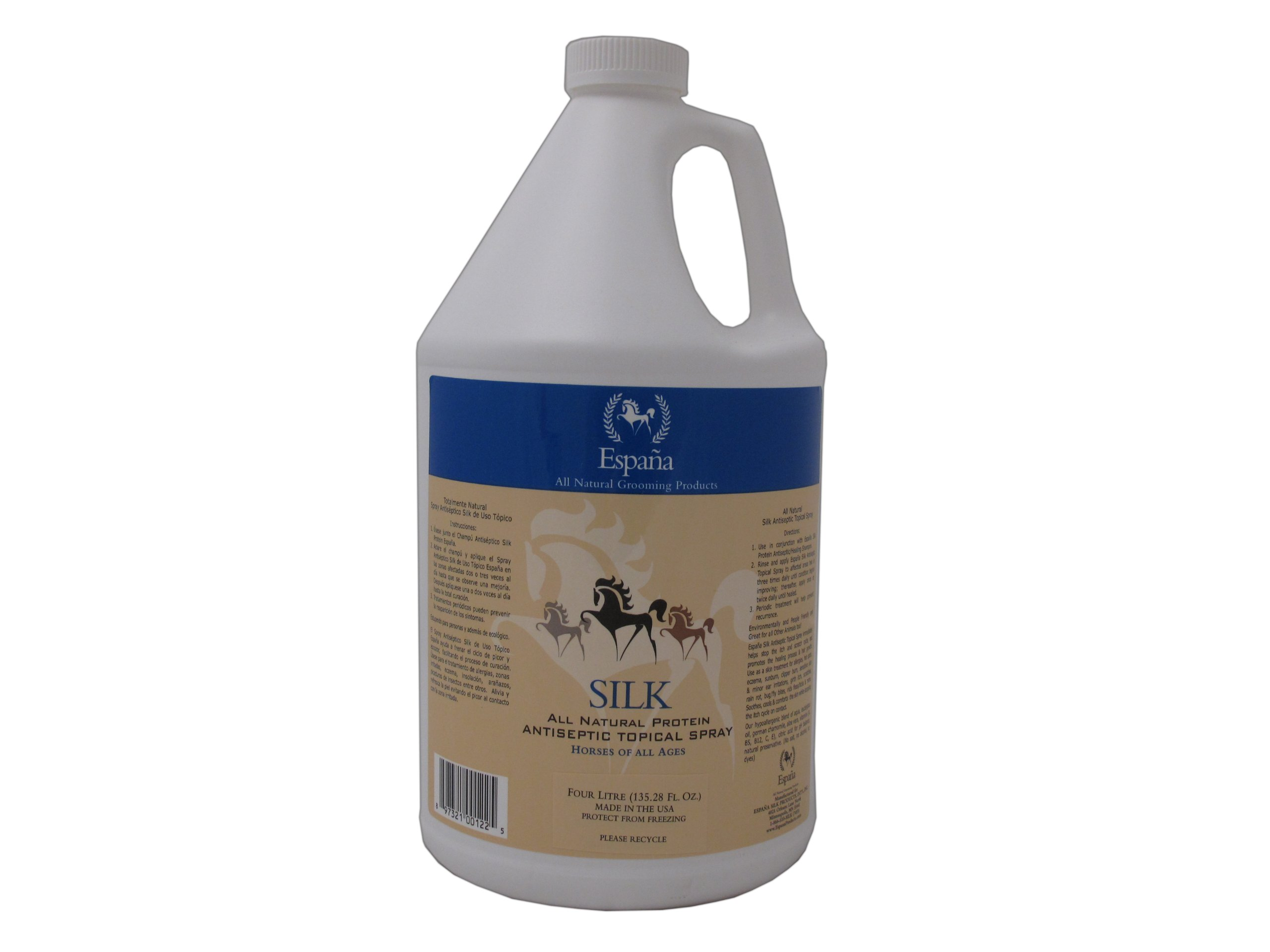Espana Silk ESP2025E Specially Formulated Silk Protein Antiseptic Topical for Horses, 135.28-Ounce by EspanaSILK