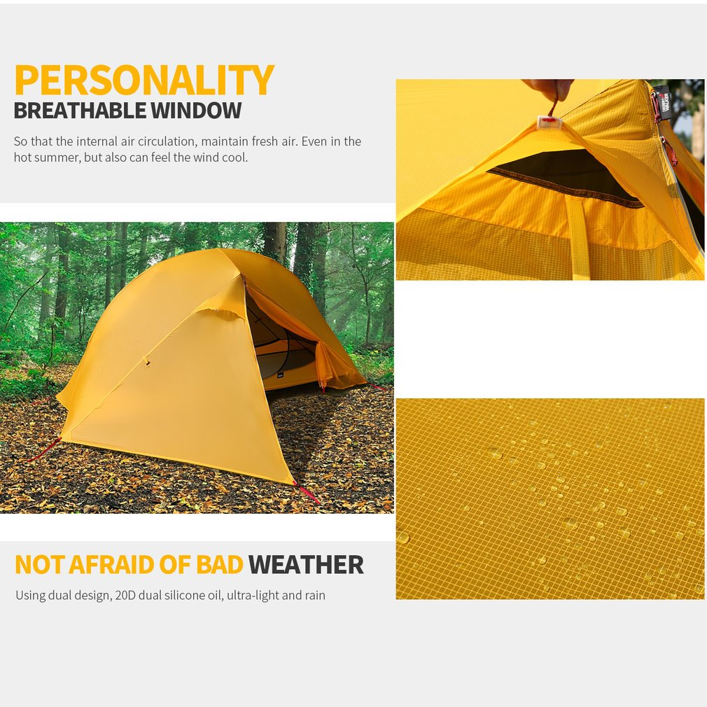 OUTAD Camping tents 15D nylon double-sided silicone tents Portable Multifunctional Off Ground Tent by OUTAD (Image #2)
