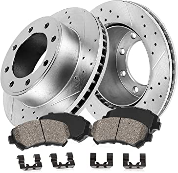 Max Performance Ceramic Brake Pads F+R 2011 Ford F350 Super Duty See Desc