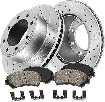 For 1995-1997 Ford F250 F350 Frront Brake Rotors /& Ceramic Brake Pads 8 LUGS!!