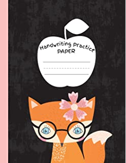 Handwriting Practice Paper Blank Lined Paper Notebook Cute Cat