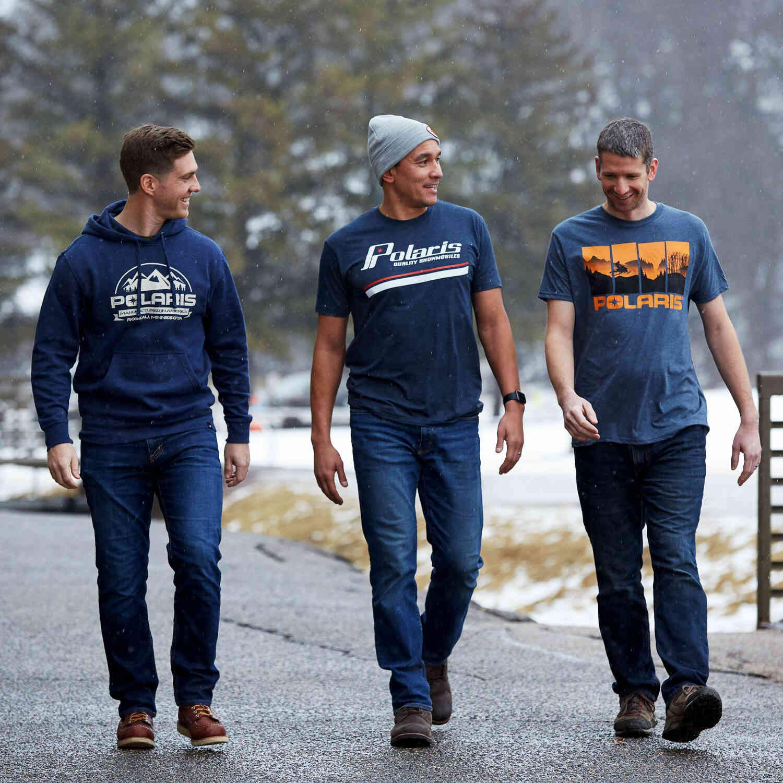 Polaris Mens Heritage T-Shirt with Polaris Logo