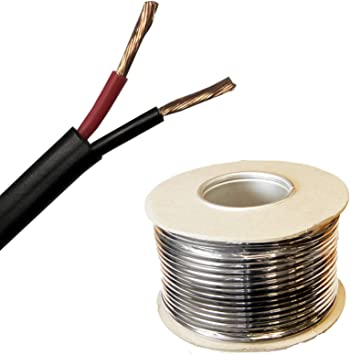 Wire4u 12V 24V AUTOMOTIVE 2//3//4//5//7 CORE THINWALL RED//BLACK CAR CABLE WIRE ROUND//FLAT Flat 2 Core 0.5mm/² 11Amps, 20 Metres