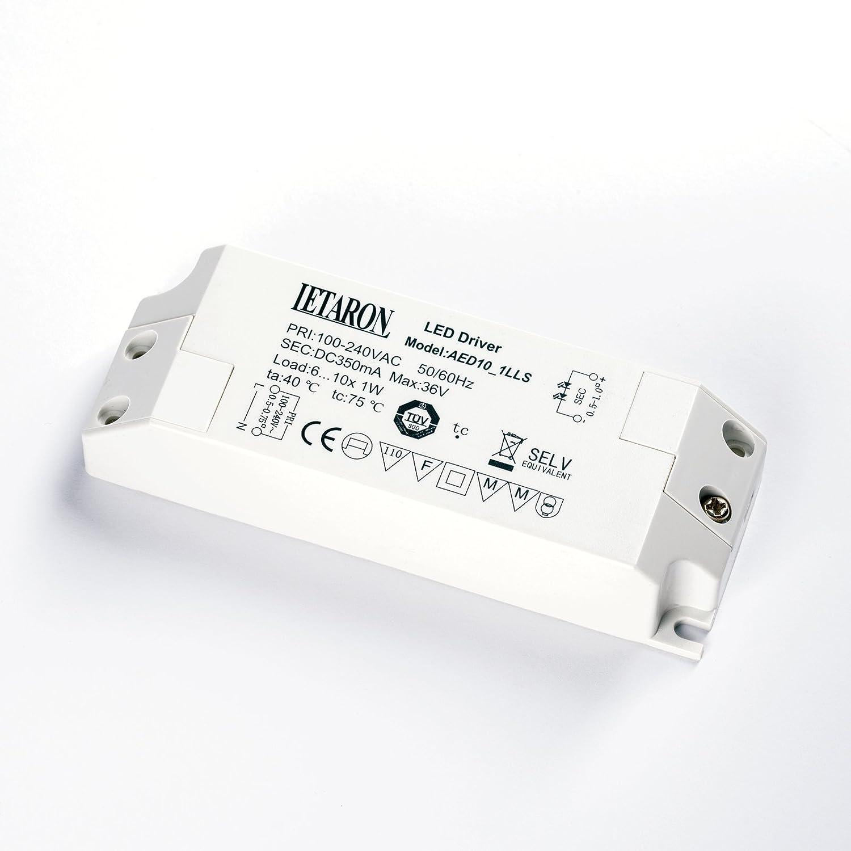 Letaron LED Driver AED10_1LLS 27-56V 350mA 6-10x1W LED Treiber Trafo
