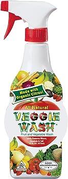 Veggie Wash Natural Fruit & Vegetable Wash Spray 16-oz